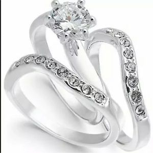Charter Club Engagement Ring 3 Piece Set Size 7